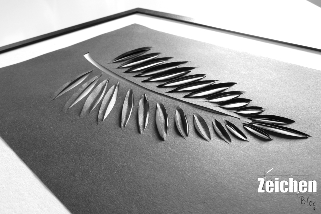 Scherenschnitt-Blätter-Papeterie