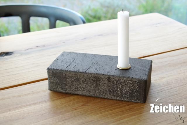 Ziegelstein-DIY-Kerzenhalter