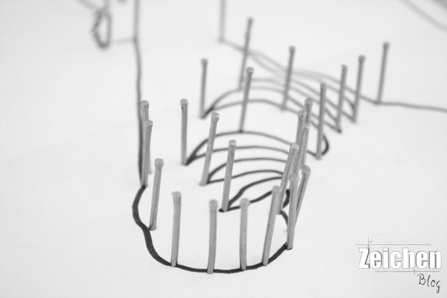 Ziegelstein-DIY-Draht-Skulptur
