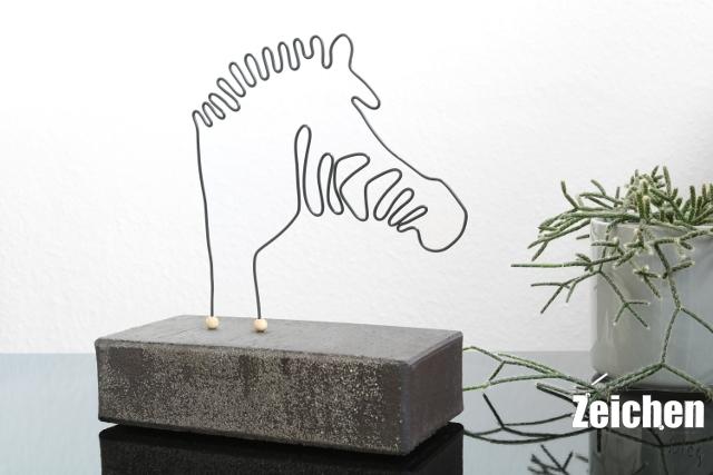 Draht-DIY-Skulptur-Ziegelstein